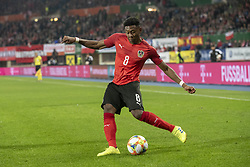 March 21, 2019 - Vienna, Austria - David Alaba of Austria pictured in action during the UEFA European Qualifiers 2020 match between Austria and Poland at Ernst Happel Stadium in Vienna, Austria on March 21, 2019  (Credit Image: © Andrew Surma/NurPhoto via ZUMA Press)