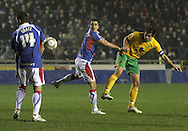 Carlisle - Saturday November 28th, 2009: Grant Holt of Norwich City scores his sides goal to make it 1-1 during the FA Cup second round match at Brunton Park, Carlisle. (Pic by Andrew Stunell/Focus Images)..
