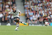 Fulham defender Jazz Richards during the Sky Bet Championship match between Fulham and Brighton and Hove Albion at Craven Cottage, London, England on 15 August 2015.