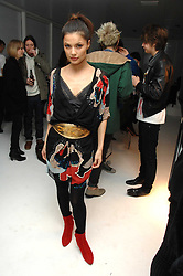 Actress NNATASSIA SCARLET MALTHE at a party hosted by PPQ of Mayfair at the Fiat Flagship Store, 105 Wigmore Street, London W1 on 11th February 2008.<br />