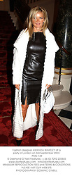 Fashion designer AMANDA WAKELEY at a party in London on 3rd September 2003.<br /> PMC 129