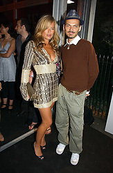 JADE JAGGER and fashion designer MATTHEW WILLIAMSON at a party hosted by retail property group Westfield at the Natural History Museum, Cromwell Road, London SW7 on 17th September 2006.<br /><br />NON EXCLUSIVE - WORLD RIGHTS