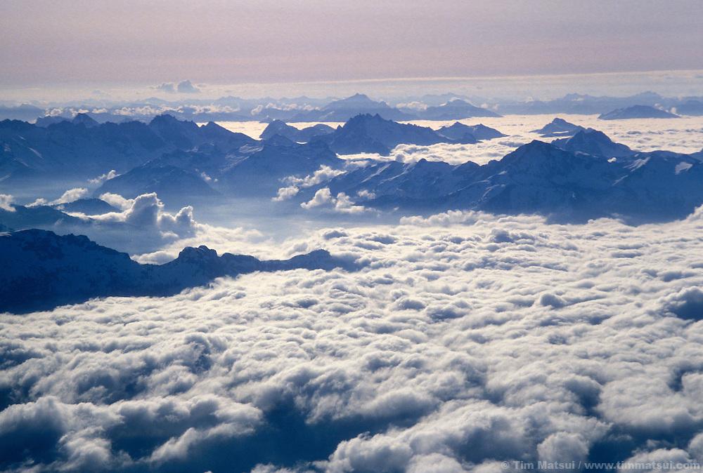 From the summit of Mt. Baker, Washington.