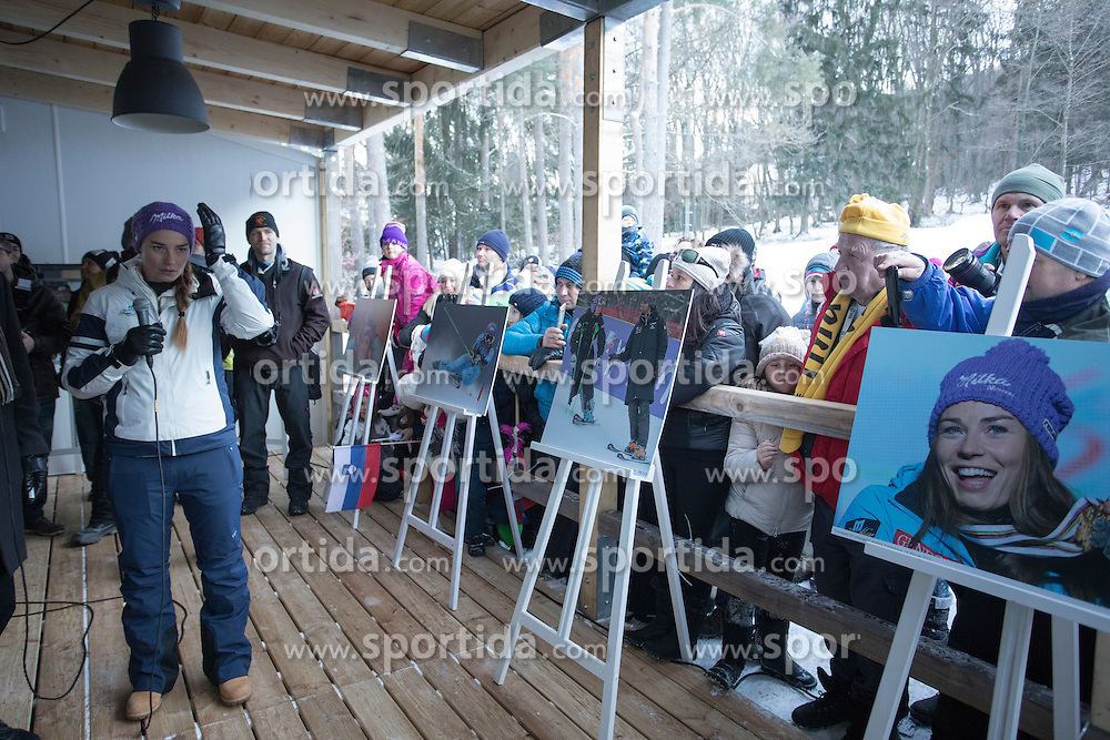 Presentation of the book biography of Tina Maze after  6th Ladies' Giant slalom at 53rd Golden Fox - Maribor of Audi FIS Ski World Cup 2015/16, on January 7, 2017 in Pohorje, Maribor, Slovenia. Photo by Marko Vanovsek / Sportida