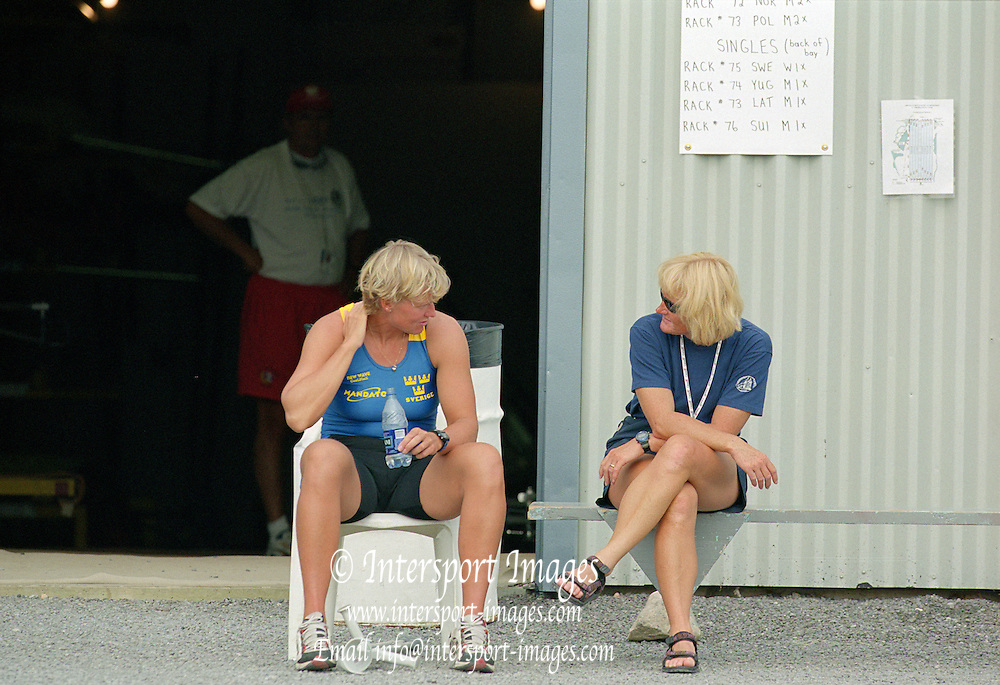 St Catherines, CANADA,   left,  SWE W1X maria BRANDIN.. 1999 World Rowing Championships - Martindale Pond, Ontario. 08.1999..[Mandatory Credit; Peter Spurrier/Intersport-images]    .... 1999 FISA. World Rowing Championships, St Catherines, CANADA