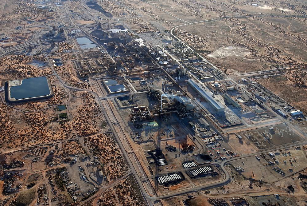 Aerial view of the Olympic Dam Copper/Uranium Mine.