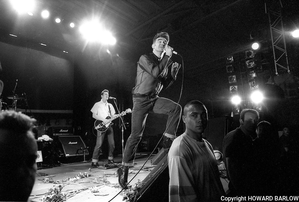 PHOTOGRAPH BY HOWARD BARLOW.MORRISSEY in concert at The DOME, DONCASTER.DONCASTER DOME  25 JULY 1991
