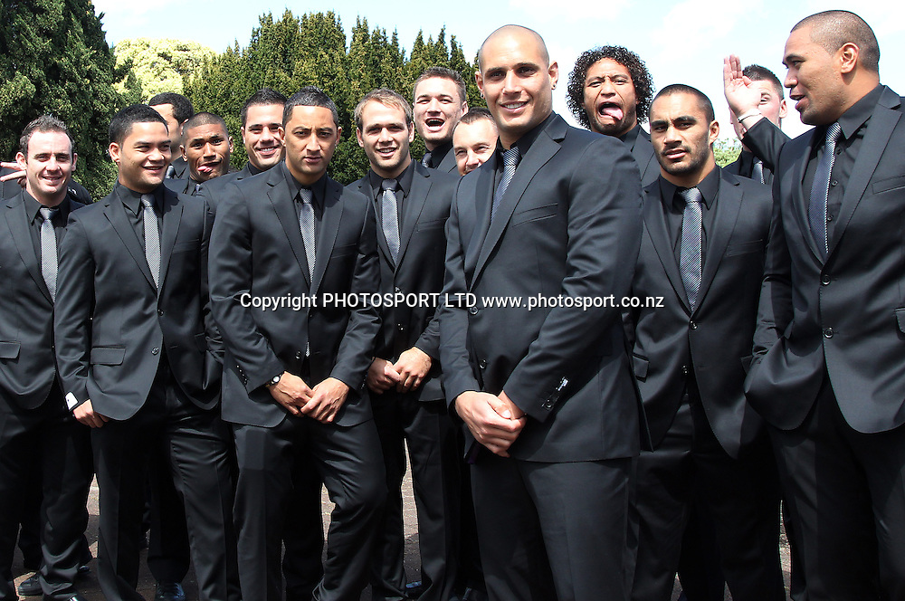 The Kiwis players in their new suits. Four Nations League Luncheon in support of League 4 Life, Ellerslie Convention Centre Auckland on Tuesday 12 October 2010. Photo: Andrew Cornaga/PHOTOSPORT