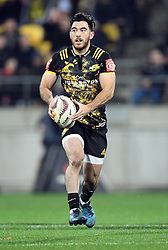 """Nehe Milner-Skudder of the Hurricanes against the Lions in the International rugby match between the the Super Rugby Hurricanes and British and Irish Lions at Westpac Stadium, Wellington, New Zealand, Tuesday, June 27, 2017. Credit:SNPA / Ross Setford  **NO ARCHIVING"""""""