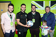 Match sponsor Grundon with MOM Forest Green Rovers Liam Shephard(2) during the EFL Sky Bet League 2 match between Forest Green Rovers and Milton Keynes Dons at the New Lawn, Forest Green, United Kingdom on 30 March 2019.