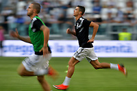 Leonardo Bonucci and Cristiano Ronaldo of Juventus during the warm up prior to the Serie A 2018/2019 football match between Juventus and Genoa CFC at Allianz Stadium, Turin, October, 20, 2018 <br />  Foto Andrea Staccioli / Insidefoto