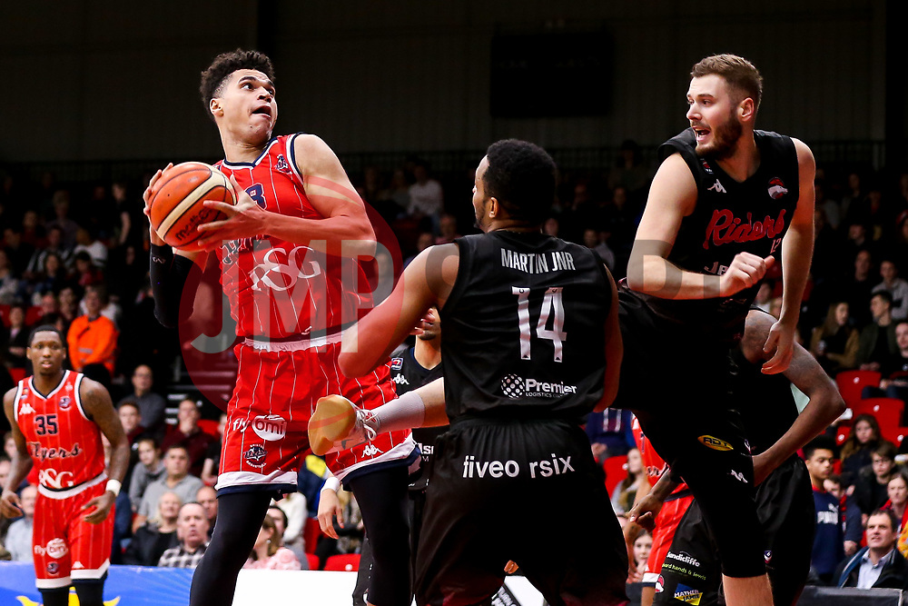 Tevin Falzon of Bristol Flyers - Photo mandatory by-line: Robbie Stephenson/JMP - 11/01/2019 - BASKETBALL - Leicester Sports Arena - Leicester, England - Leicester Riders v Bristol Flyers - British Basketball League Championship