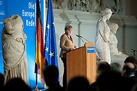 """09 NOV 2010, BERLIN/GERMANY:<br /> Angela Merkel, CDU, Bundeskanzlerin, """"Die Europa Rede"""", Veranstaltung der Konrad-Adenauer-Stiftung, der Robert-Bosch-Stiftung, der Stiftung Zukunft Berlin, Pergamon Museum<br /> IMAGE: 20101109-02-058<br /> KEYWORDS: Rede, speech"""