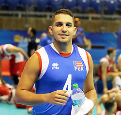 September 12, 2018 - Varna, Bulgaria - Dennis Del VALLE (Puerto Rico), .FIVB Volleyball Men's World Championship 2018, pool D, Iran vs Puerto Rico,. Palace of Culture and Sport, Varna/Bulgaria, .the teams of Finland, Cuba, Puerto Rico, Poland, Iran and co-host Bulgaria are playing in pool D in the preliminary round. (Credit Image: © Wolfgang Fehrmann/ZUMA Wire)