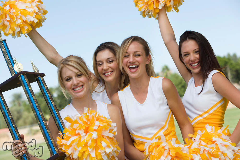 Cheerleaders Celebrating Victory