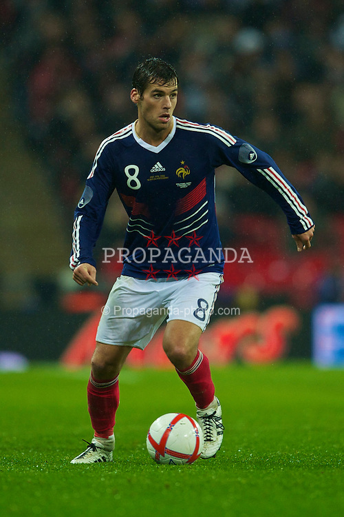 LONDON, ENGLAND - Wednesday, November 17, 2010: France's Yoann Gourcuff in action against England during the International Friendly match at Wembley Stadium. (Pic by: David Rawcliffe/Propaganda)