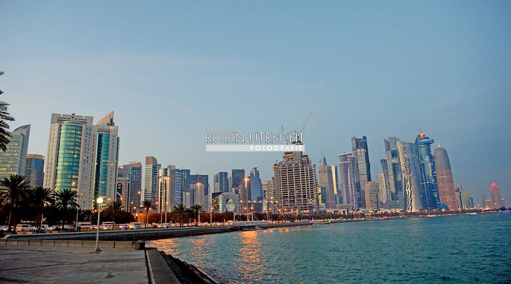DOHA QATAR 3-3-2016  Crownprincess Mary and Crownprince Frederik will visit Qatar 2 and 3 march 2016 . copyright robin utrecht  DOHA QATAR 3-3-2016  het wk voetbal fifa hij besloten dat het doorgaat gaat gewoon door in qatar in 2022  het straatleven in Doha Qatar .copyright robin utrecht