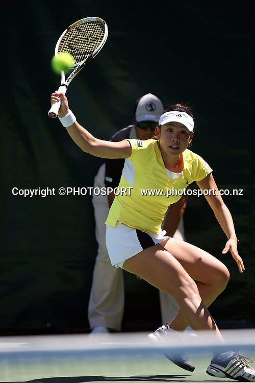Japan's Aiko Nakamura during the second day at the ASB Classic, Stanley st Tennis Centre, Auckland, New Zealand. Tuesday 6 January 2009. Photo: Andrew Cornaga/PHOTOSPORT *** Local Caption ***  Tennis  ASB  ASB Classic  Stanley st