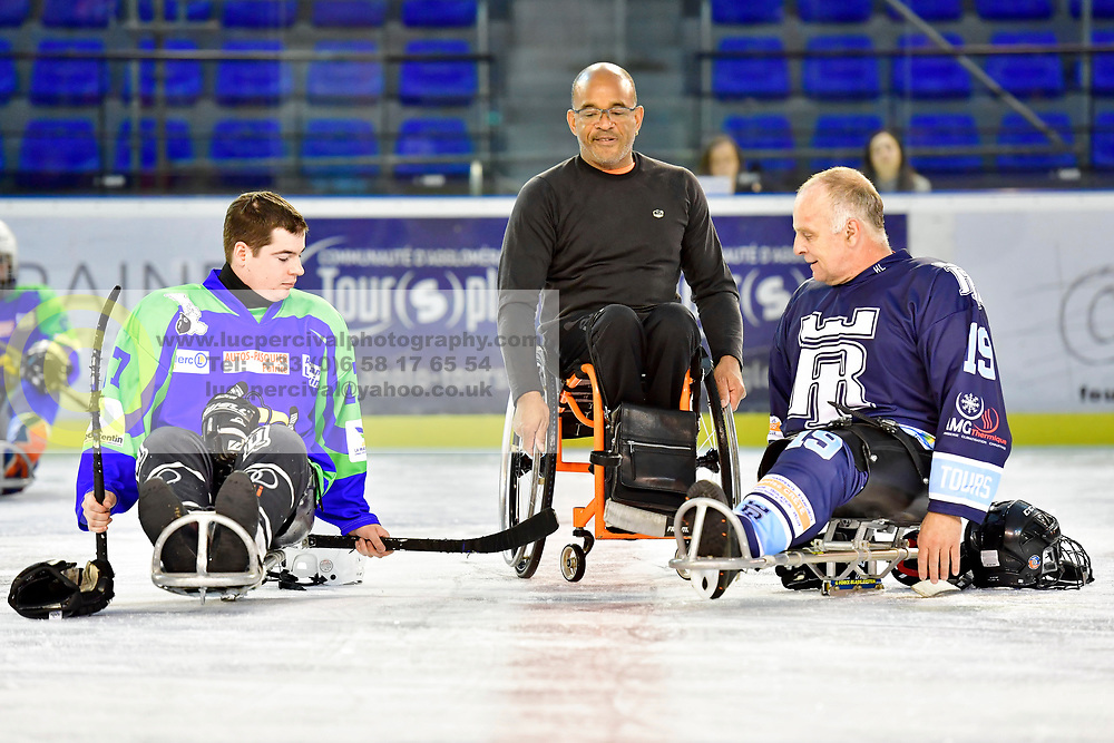 Para Ice Hockey initiation and match at the Remparts de Tours skating rink, Tours, France.