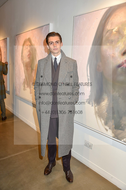 12 December 2019 - Mathias Le Fevre at a private view of Lethe by Henrik Uldalen at JD Malat Gallery. 30 Davies Street, London.<br /> <br /> Photo by Dominic O'Neill/Desmond O'Neill Features Ltd.  +44(0)1306 731608  www.donfeatures.com