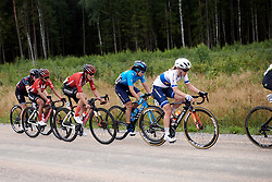 Amy Pieters (NED), Sheyla Gutierrez Ruiz (ESP) and Lucinda Brand (NED) in the break during Postnord UCI WWT Vårgårda WestSweden Road Race, a 145.3 km road race in Vårgårda, Sweden on August 18, 2019. Photo by Sean Robinson/velofocus.com