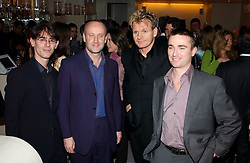 Left to right, MICHAEL ADAM former husband of Tara Newley, daughter of Joan Collins, SEBASTIAN SAINSBURY, GORDON RAMSAY and ALASTAIR PATON at the opening party of Pengelley's, 164 Sloane Street, London SW1 on 22nd February 2005.<br /><br />NON EXCLUSIVE - WORLD RIGHTS