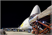 Unloading Airfreight, Qantas Freight Services, Sydney Airport, Australia