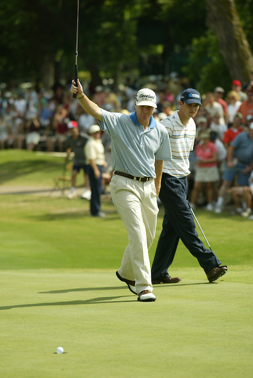 Steve Flesch..2004 Colonial Invitational.Fourth Round.Colnial Country Club.Fort Worth, Texas.Sunday, May 23 2004.photograph by Darren Carroll