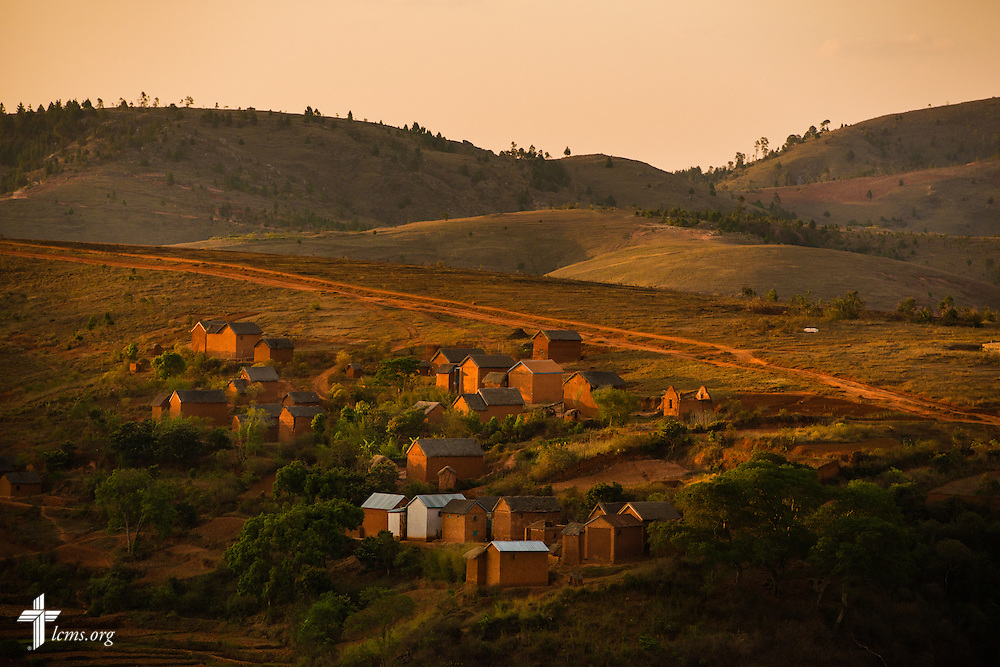 Evening light baths a village on Friday, Oct. 17, 2014, near Antsirabe, Madagascar. LCMS Communications/Erik M. Lunsford