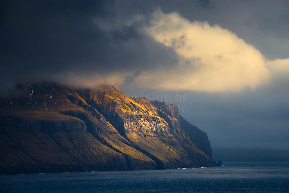 Norðradalur from Sandavágur, Faroe Islands.