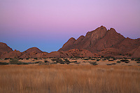 Spitzkoppe Range  Earths shadow  Namibia