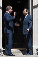 Downing Street, London, UK. 17th June 2014. Chinese premier Li Keqiang meets PM David Cameron at Downing Street, London. The visit is expected to lead to nearly £18bn of deals being signed, including a deepening Chinese involvement in energy, nuclear power and other UK infrastructures.