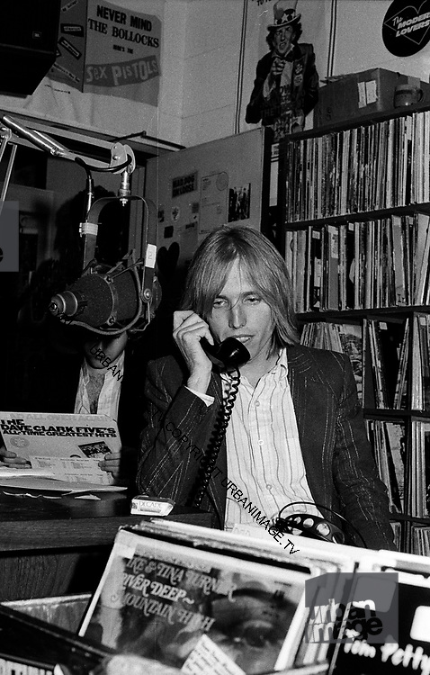 Tom Petty does a phone-in at a local San Francisco Radio Station - 1979