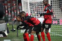 JOIE GUINGAMP  / Christophe MANDANNE / Claudio BEAUVUE   / Younousse SANKHARE  - 24.01.2015 - Guingamp / Lorient - 22eme journee de Ligue1<br />Photo : Vincent Michel / Icon Sport *** Local Caption ***