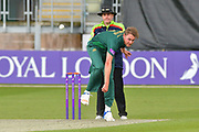 Stuart Broad bowling during the Royal London 1 Day Cup match between Worcestershire County Cricket Club and Nottinghamshire County Cricket Club at New Road, Worcester, United Kingdom on 27 April 2017. Photo by Simon Trafford.