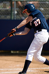 Virginia Cavaliers P/OF Nicole Koren (27) at bat against Towson.  The Virginia Cavaliers Softball team faced the Towson University Tigers on April 3, 2007 at The Park in Charlottesville, VA.