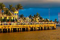 People gathering at Mallory Square for the daily Sunset Celebration, Key West, Florida Keys, Florida USA