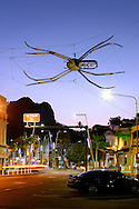 Spider art work outside museum of tropical Queensland, Townsville, Queensland, Australia.