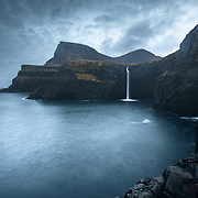 Mulafossur, Vágar, Faroe Islands.