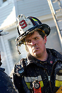 (January 29, 2005 - Somerville, MA)  A 6 alarm fire at 504 Somerville Avenue left two houses heavily damaged after the first fire companies rolled up at 7:22 am with heavy fire showing.