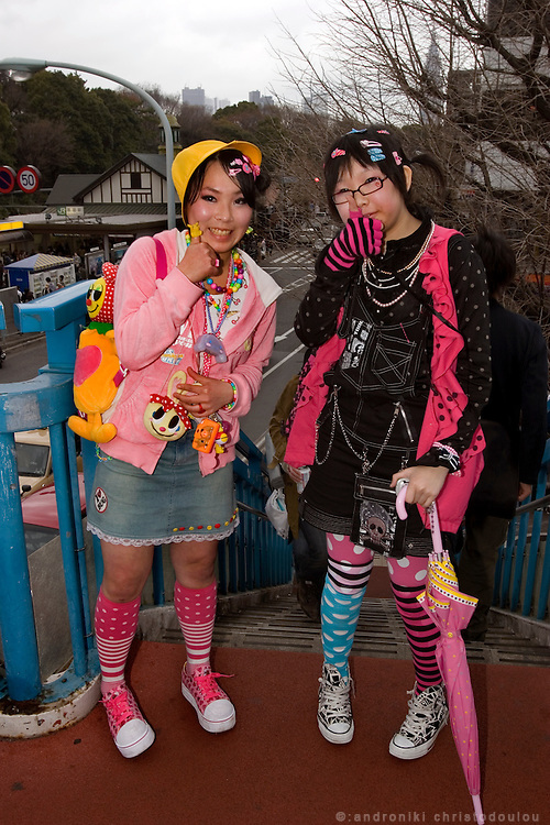 "Harajuku. Chita (left) and Mirin (right) say their fashion's name is ""decora"""