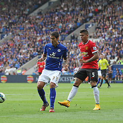 Leicester City's Leonardo Ulloa during the Barclays Premiership match between Leicester City FC and Manchester United FC, at the King Power Stadium, Leicester, 21st September 2014 © Phil Duncan | SportPix.org.uk
