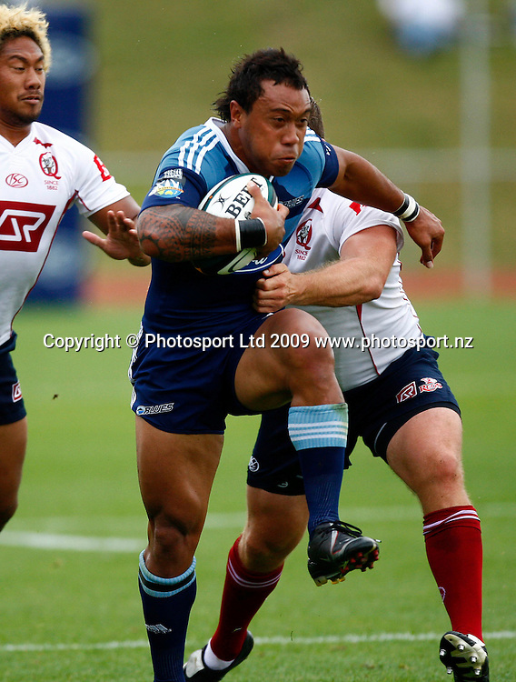 Blues' Anthony Tuitavake in action between Super 14 franchise teams, Blues versus Reds rugby union pre season match. Waitakere Trusts Stadium, Henderson, Auckland, New Zealand. Friday 30 January 2009. Photo: Simon Watts/PHOTOSPORT