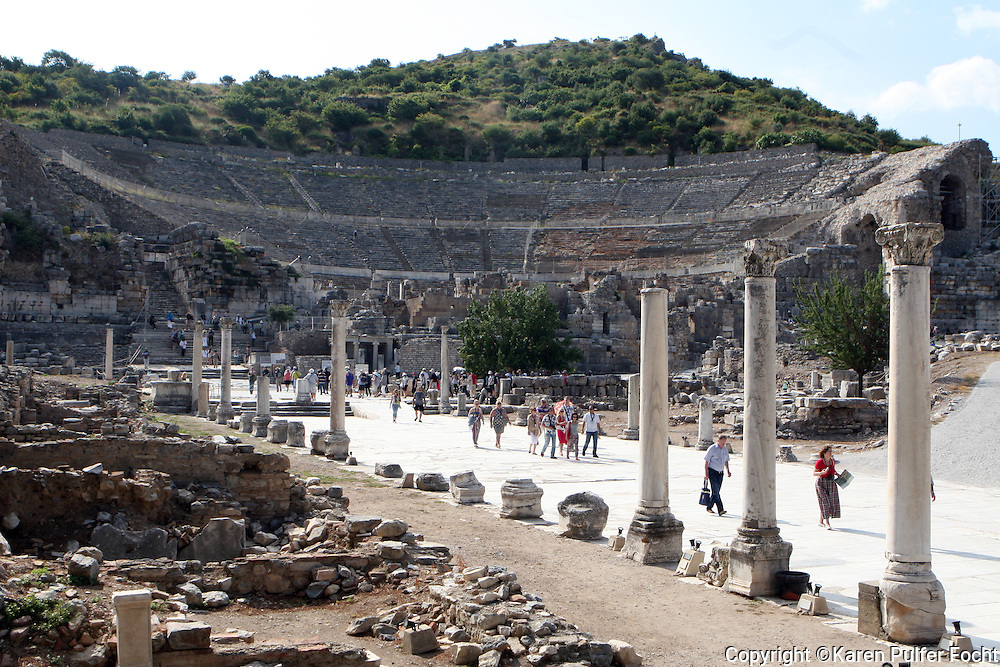 June 1, 2014 - The ancient city of Ephesus (Turkish: Efes), located near the Aegean Sea in modern day Turkey, was one of the great cities of the Greeks in Asia Minor and home to the Temple of Artemis, one of the Seven Wonders of the World. Today, the ruins of Ephesus are a major tourist attraction, especially for travelers on Mediterranean cruises. Ephesus is also a sacred site for Christians due to its association with several biblical figures, including St. Paul, St. John the Evangelist and the Virgin Mary.