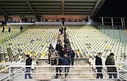 PARMA 2016-12-23:  REPORTAGE PARMA CALCIO.<br /> Publiken l&auml;mnar arenan efter matchen mellan Parma Calcio och Modena p&aring; Stadio Ennio Tardini.<br /> Foto: Nils Petter Nilsson