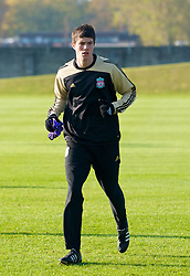 LIVERPOOL, ENGLAND - Monday, November 3, 2008: Liverpool's Martin Kelly during training at Melwood ahead of the UEFA Champions League Group D match against Club Atletico de Madrid. (Photo by David Rawcliffe/Propaganda)