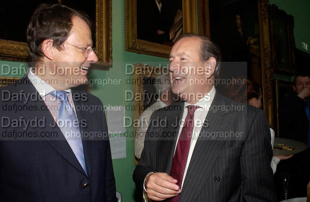 The German Ambassador and Sir Michael Pakenham. Celebration of Lord Weidenfeld's 60 Years in Publishing hosted by Orion. the Weldon Galleries. National Portrait Gallery. London. 29 June 2005. ONE TIME USE ONLY - DO NOT ARCHIVE  © Copyright Photograph by Dafydd Jones 66 Stockwell Park Rd. London SW9 0DA Tel 020 7733 0108 www.dafjones.com