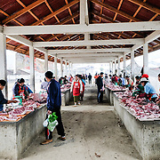 Fresh meat for sale at the morning market in Sam Neua (also spelled Samneua, Xamneua and Xam Neua) in northeastern Laos.