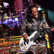 September 25, 2013 - New York, NY: Verdine White of the band Earth, Wind & Fire performs at the Beacon Theatre in Manhattan on Wednesday night.<br /> CREDIT: Karsten Moran for The New York Times