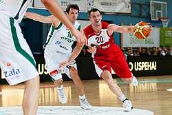 Piotr Szczotka of Poland vs Bostjan Nachbar of Slovenia at exhibition game between Slovenia and Poland for Primus Trophy 2011Lithuania as part of exhibition games before European Championship L2011on July 23, 2011, in Ljudski Vrt, Ptuj, Slovenia. (Photo by Matic Klansek Velej / Sportida)